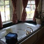  Jacuzzi bathtub &amp; bay windows.
