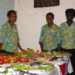 Part of the Kavieng Hotel's famous Seafood Buffet