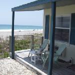 This was the little porch in front of our room.  You can see how close the beach was