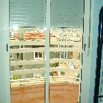  Door to balcony from bedroom