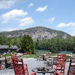 Terrace lounge and Rock Mountain.