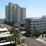  Ocean Blvd from top level of Parking Deck. Building R is the Riptide