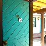 Old Santa Fe style wood doors
