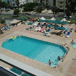  View of swimming pool from balcony