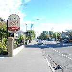 Milano Lodge Motel - from the front entrance looking along Pananui Road towards Merrivale
