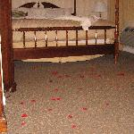 Rose petals in our room (these were not provided by the Century House)