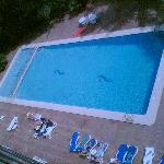  From balcony to Pool - our view