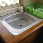 Dirty old kitchen sink