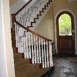 Stair case leading to the rooms or you can take the elevator