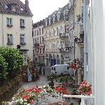 The view from the balcony at Alte Laterne across the square