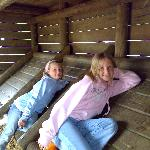 The girls den in the playground