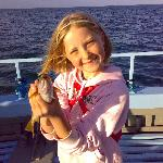 catching my first fish on a trip from brixham harbour