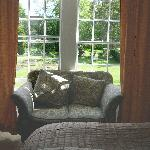  Sofa overlooking garden