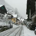 Heavy snow at the village