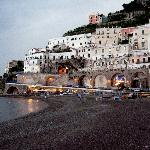 Neighboring town Atrani at dusk