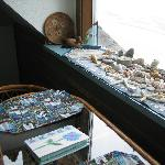 Rocks and shells in the window