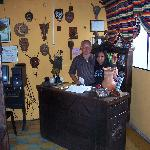 Front desk, illuminated by Don Ismael himself and his girl.
