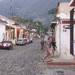 """Rush hour """"Antigua Guatemala"""" Style.  Just a few steps away from your room."""