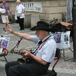 Local street musician - actually very good