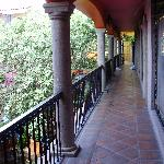 Upstairs walkway over courtyard