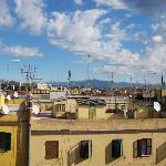  View over Rome&#39;s rooftops from Friends Hostel