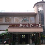  The front of the hotel