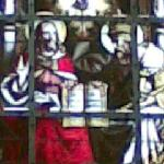 Stained glass panel, Bruge