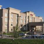 hotel exterior looking toward I-30