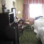  room interior, note microwave and refrigerator