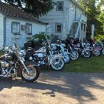 Our group of Harleys