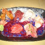 assortment of delicious sashimi