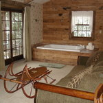 Cozy hot tub in Hemlock cabin