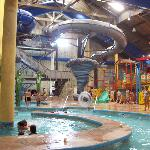 The slides and lazy river