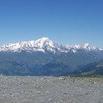  vue sur le mont blanc pendant l&#39;ascension vers le glacier