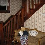 The bedrooms are all upstairs