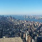 View from empire state building!
