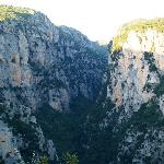 Vikos gorge-the photo was taken from a monastery hanging on the cliff