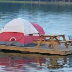 The floating tent platform