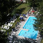 piscina vista dalla camera