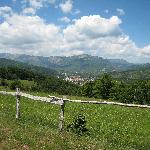 View down to Kolasin from surrounding hills