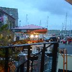 View of the harbour from the bar