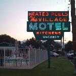 Village Motel sign