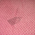 Iron burn in the carpet