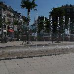 some of the fountains in the main square