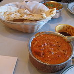 butter chicken and naan - YUM!!!