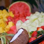  Display of fruits on the buffet