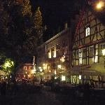 Market square at night