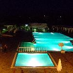 Night picture of main pool