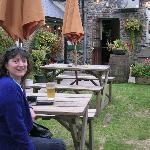 Me in a small area of the pub garden