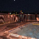  pool at night, closes at 9:30